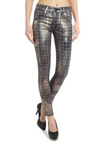 True Religion Halle embellished skinny jean in coated jacquard
