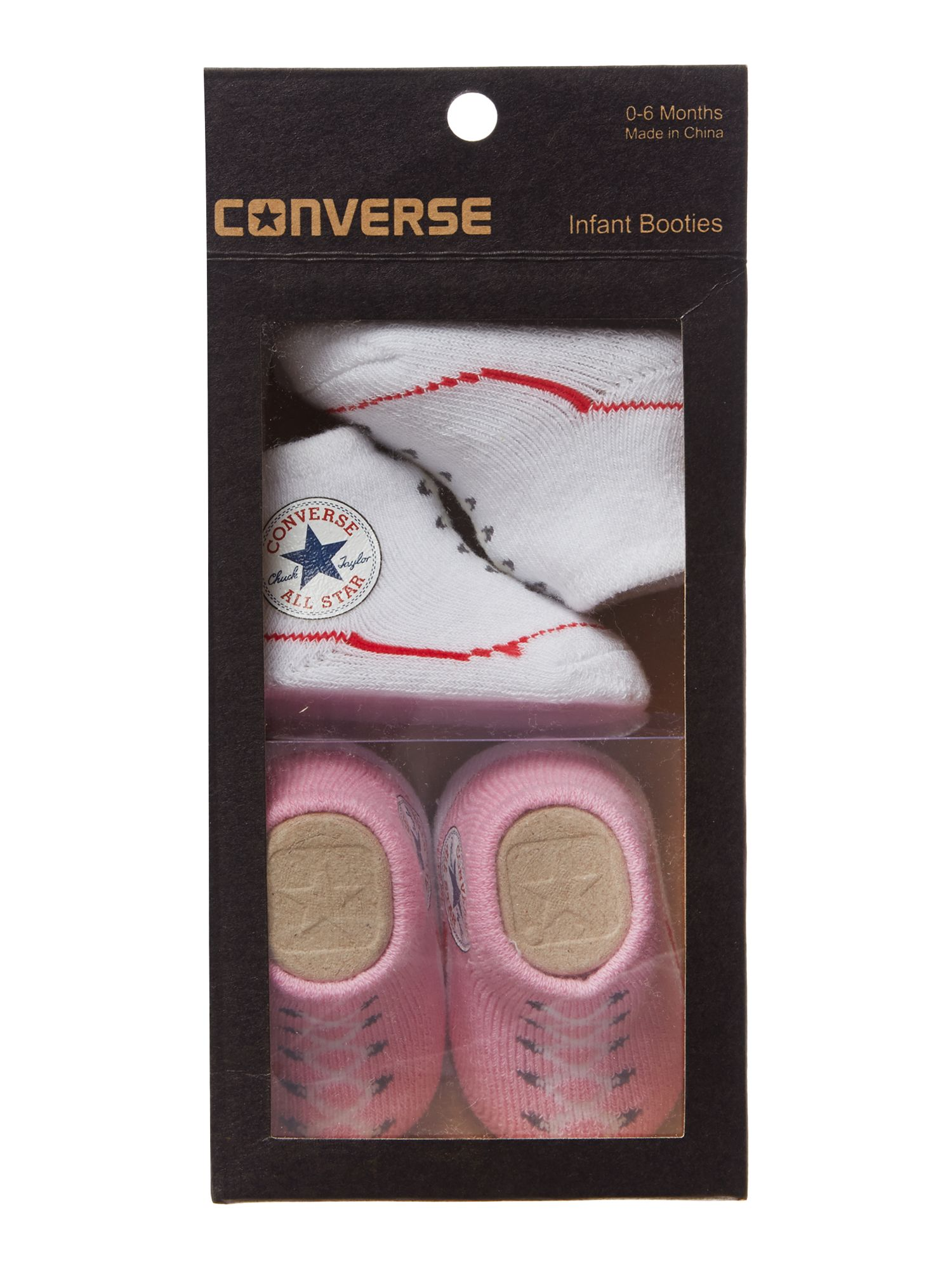 Converse New Born 2 Pack Converse Booties Pink