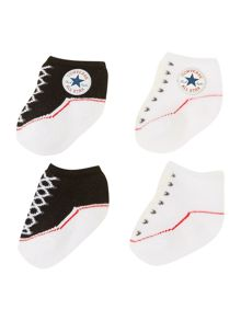 New Born 2 Pack Converse Booties
