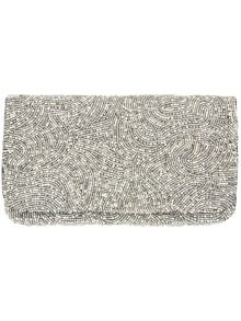 Gia embellished beaded clutch bag