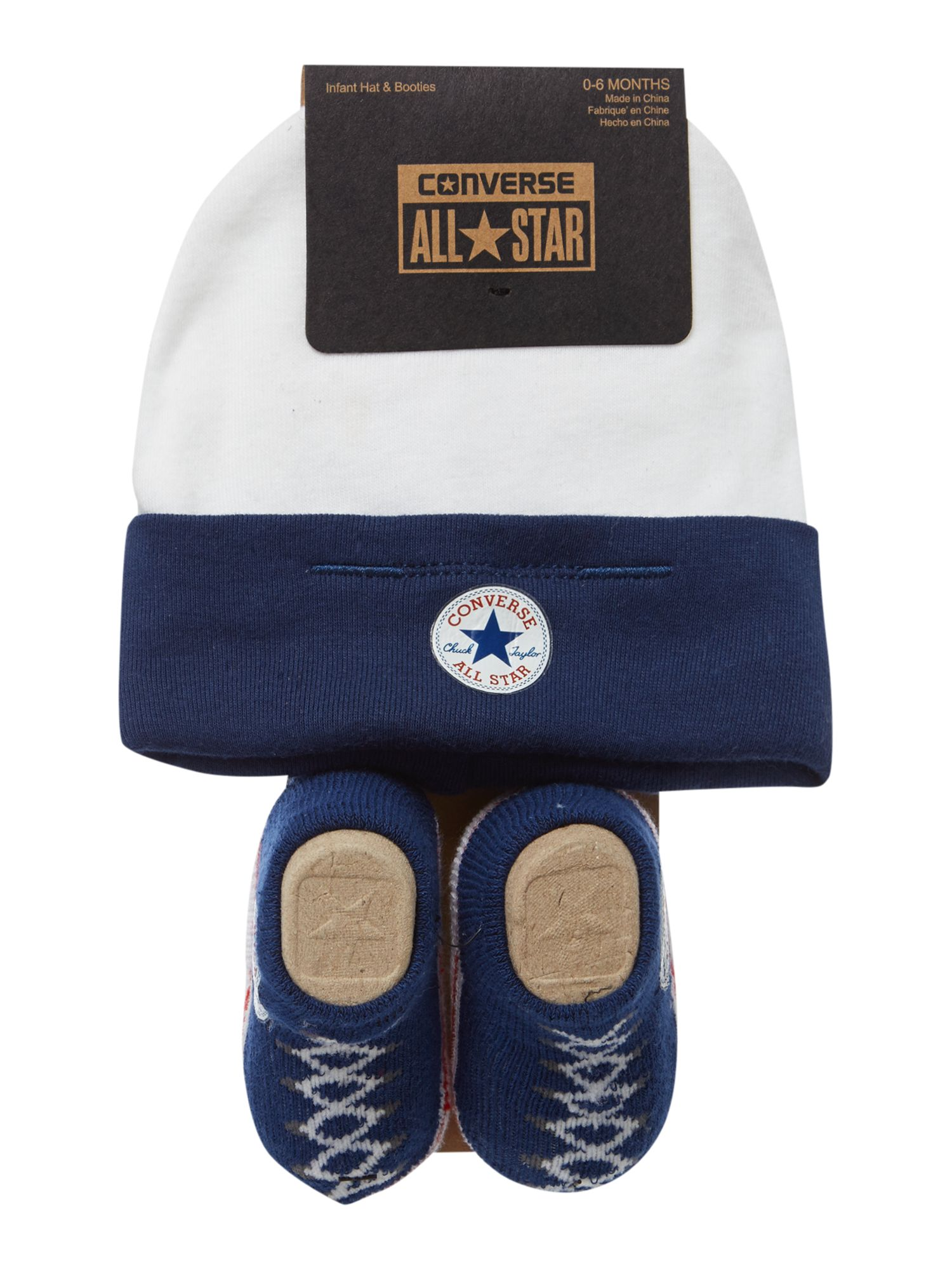 Baby Shower Gifts House Of Fraser ~ Converse new born hat and booties gift set blue �