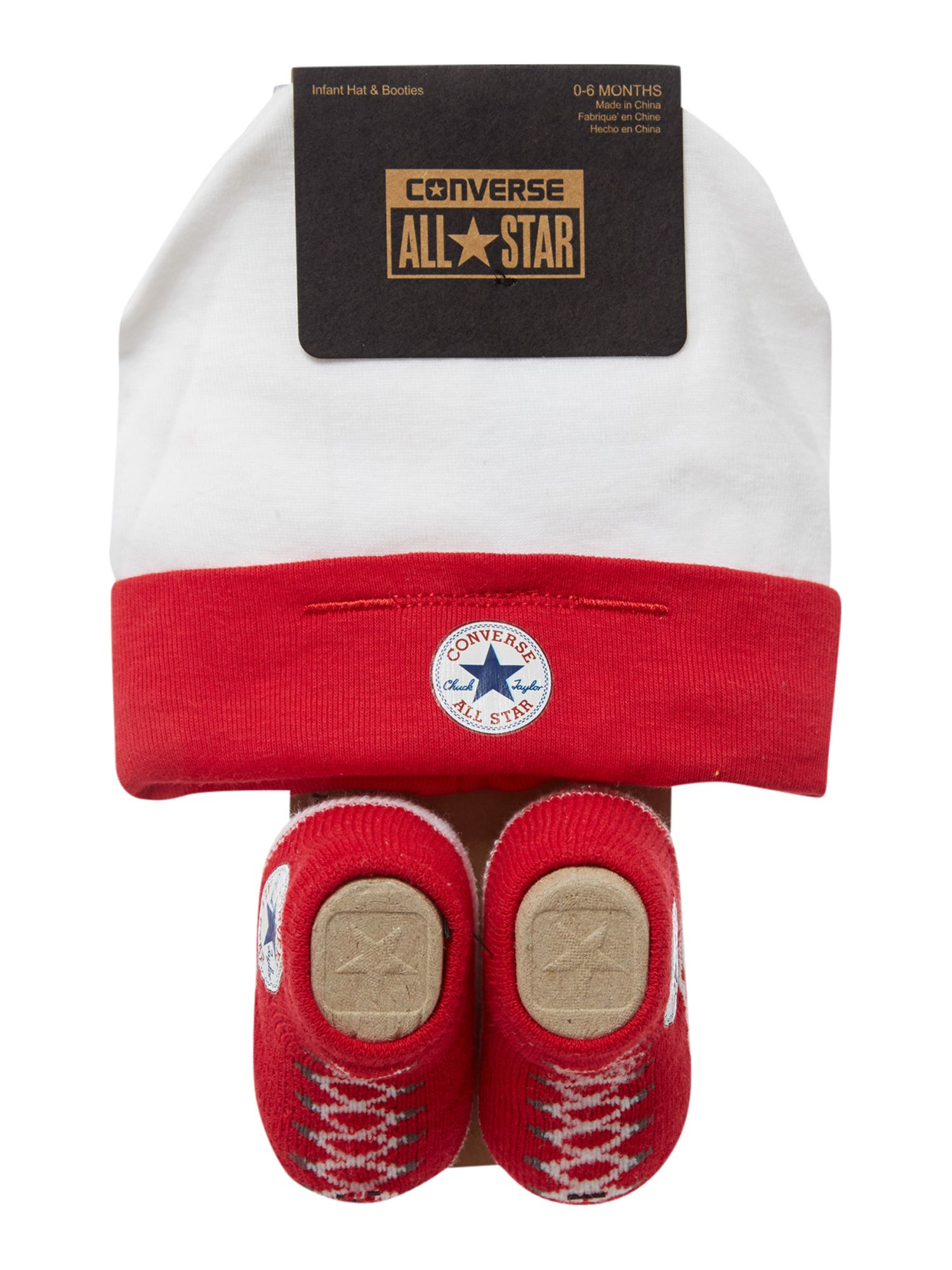 Baby Shower Gifts House Of Fraser ~ Converse new born hat and booties gift set red octer