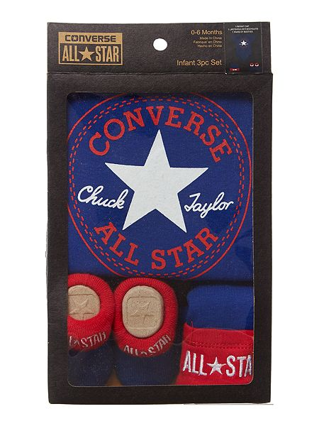 Converse Baby Gift Set Boy : Converse new born piece baby gift set blue house of fraser