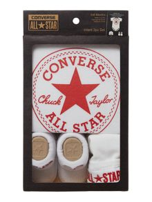 Converse New Born 3 Piece Baby Gift Set