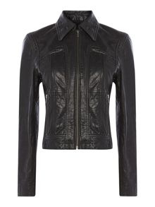Ainsley leather biker jacket