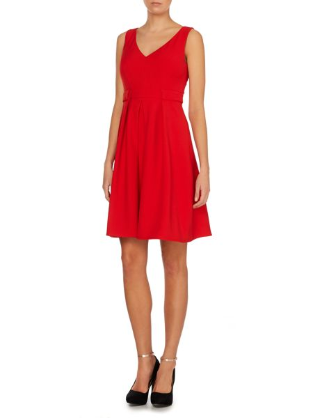Untold V neck fit and flare dress