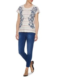 Linea Weekend Rainstorm botanic scoop tshirt