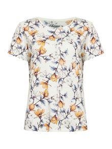 Linea Weekend Branch bloom scoop tee