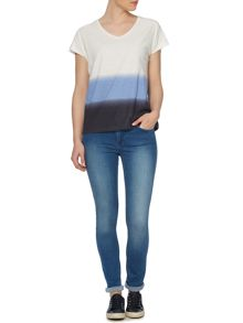 Linea Weekend Top dip dye tshirt