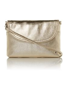Metallic gold small cross body