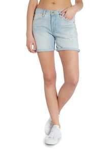 7 For All Mankind Slouchy short in arizona bleached