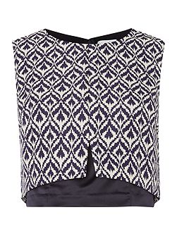 Aztec Jacquard Crop Top