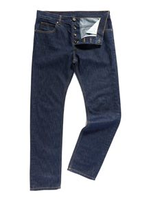 Slim Fit Rinse Wash Mid Rise Jeans