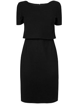 Delphine textured dress