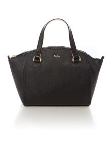 Saffiano black east west tote bag