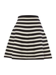 Stripey A line skirt