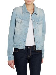 7 For All Mankind Easy trucker jacket in arizona bleached