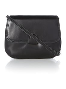 Smooth black cross body bag