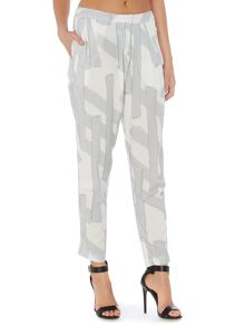 Pamera loose printed stroke trousers