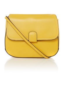 Smooth yellow cross body bag