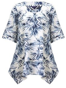 Phase Eight Palm print oversized blouse