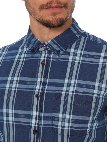 Criminal Peter Large Check Long Sleeve Shirt