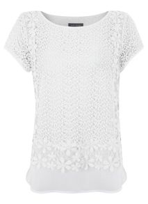 Ivory Lace Layered Top