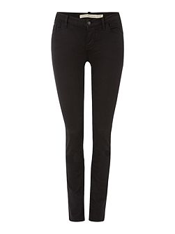 Mid rise skinny jean in pop black stretch