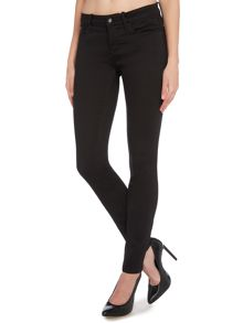 Calvin Klein Mid rise skinny jean in pop black stretch