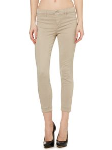 J Brand Anya cropped cuffed hem in concrete dust
