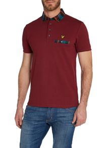 Regular Fit Tartan Collar Polo Shirt