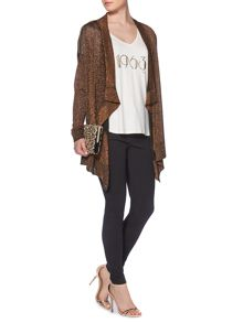 Biba Throw on zip detail cardigan