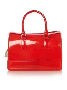 Candy red medium bowling bag