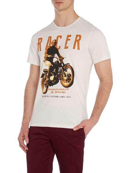 Barbour Print Crew Neck T-Shirt Regular Fit