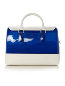 Candy multi coloured blue bowling bag
