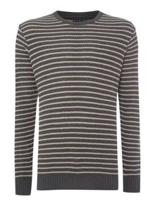 Barbour Stripe Crew Neck Pull Over Jumper
