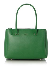 Lotus green tote bag