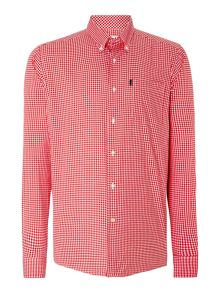 Barbour Gingham Long Sleeve Collar Shirt Tailored Fit