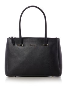 Lotus black tote bag