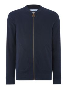 Plain Y Neck Jumper Zip Fastening