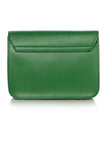 Metropolis green small flap over cross body bag