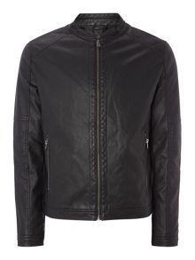 Showerproof Biker Jacket Casual Full Zip