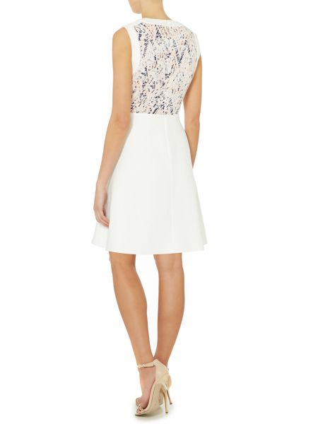 Untold Sleeveless dress with printed bodice panel
