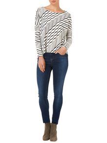 Teresa textured stripe top
