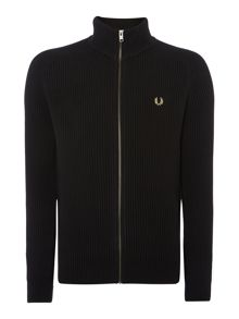 Ribbed Cardigan Zip Fastening