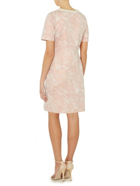 Untold Jacquard shift dress with beaded neckline