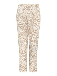 loose wrap leopard print trousers