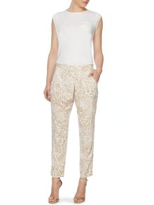 Episode loose wrap leopard print trousers