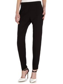 Front draped tailored trousers