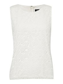 sleeveless all over lace top